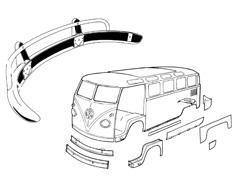Carrosserie Vw Bus 50->67