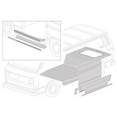 Chassis et bas de caisse VW Transporter T25/T3