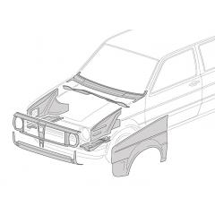Face avant - VW Golf 2 1983-1992