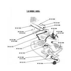 Circuit d'eau 1.9 L  1985 ->>>