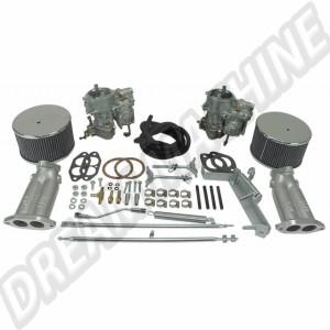43-4400-0  Kit 2 carburateurs Empi/Kadron double admission 40mm Solex  840€