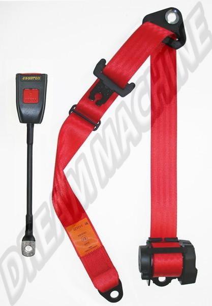 Ceinture de sécurité 3 points rouge à enrouleur, homologuée ... 35342602380