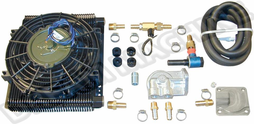 Syst/ème de refroidissement universel de radiateurs de refroidisseur dhuile de moteur /à 7 rang/ées pour toutes les voitures japonaises