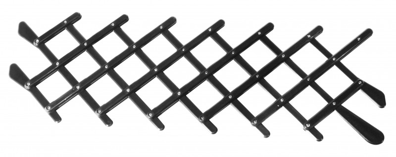 Grille d'aération rétro couleur noire pour vitre de porte  DM061017B Sur www.dream-machine.fr