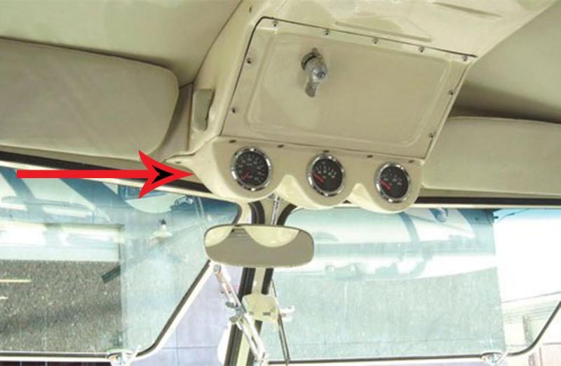 Support de 3 manomètres montage sous la boite a air combi split  DM957300 Sur www.dream-machine.fr
