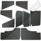 Kit de 9 panneaux avant et arrière en vinyl noir Transporter