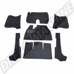 Kit moquette noir 7 pièces cabriolet 58---->>7/68