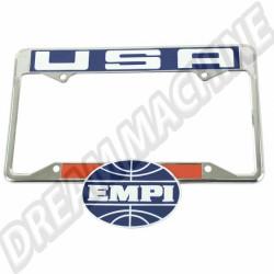 Entourage plaque immatriculation arrière EMPI USA