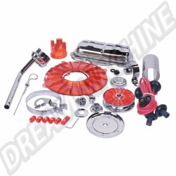 Kit chrome moteur Deluxe colori rouge