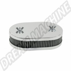 Filtre à air ovale carbu dbl corp weber 40/42 dcnf 45mm