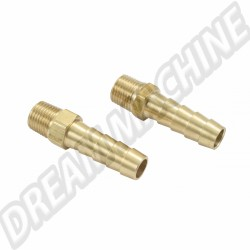 Raccord droit essence 8mm, la paire 00-9097-0 |  Dream-Machine.fr