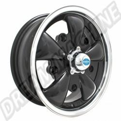 Jante Empi GT-5 noire et polie 5,5x15 5 trous 5x205