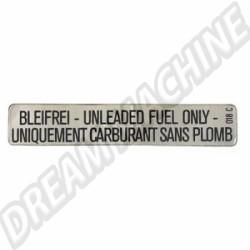 000010018C Autocollant carburant sans plomb