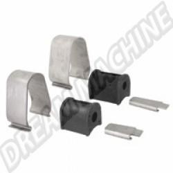 111498101ASS Kit montage barre stabilisatrice 1 côté avec attaches inox 8/65-->>