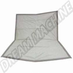 Ciel de toit rectangulaire vinyl blanc perforé 72-77