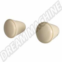111999101IV Bouton ivoire pour autoradio avec clé Allen, la paire