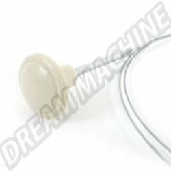 Cable ouverture de capot avant 10/52--->>66 bouton blanc