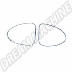 113853355 set de 2 chromes métalliques de lunette arrière -52 (vendu sans clips)