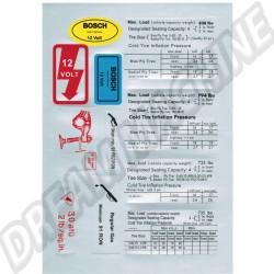 Kit de 11 autocollants Coccinelle 68--79 1139996879 113 999 6879 sur dream-machine.fr