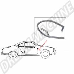 Joint vertical avant de porte droite pour Karmann Ghia 55 ->74 141831712A 141 831 712A | Dream-Machine.fr