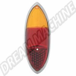 141945227E Cabochon de feu arrière orange et rouge Ghia 60-69