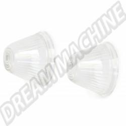 141953161C Cabochons de clignotant obus transparent avant Ghia 59-64, la paire