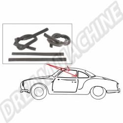 Joints de vitres de portes pour Karmann Ghia Coupé 60 ->67 - 4 pièces 143 845 341A 143845341A VW Karmann Ghia  | Dream-Machine.fr