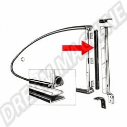 Joints verticaux de Popout pour Karmann Ghia 56 ->59 143 847 327 143847327 VW | Dream machine
