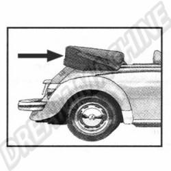 Couvre capote en alpaga noir coccinelle cabriolet 65--->>70