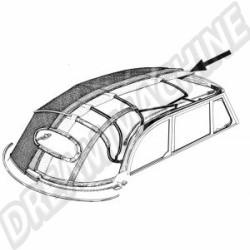 Ciel de toit vinyl blanc perforé cabriolet 65--->>70