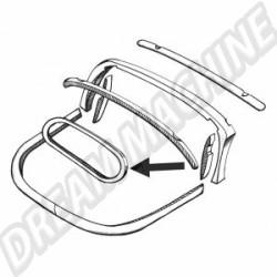 Cadre bois de lunette arrière pour Cox cabriolet 74->