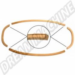 Cadre métallique de lunette arrière pour Cox Cabriolet 62 ->74