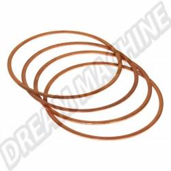 Cales haut de cylindre en cuivre 92mm x 1.25mm
