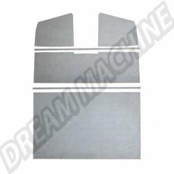 Panneaux de ciel de toit en plastique gris T2 pick-up double cabine 11/58-->07/67 265867515A 265 867 515 A | Dream-Machine.fr