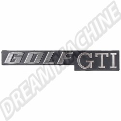 "Logo arrière ""Golf GTi"" pour Golf 1 171853687K 171 853 687 K VW  | dream-machine.fr"