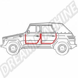 Joint de porte gauche (avant ou arrière) VW 181 181 837 911 B 181837911B