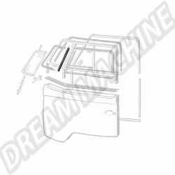 Joint de déflecteur vertical gauche ou droit sur porte avant Combi 50->67 211837629   Dream-Machine.fr
