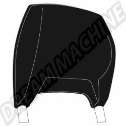 Housses d'appuie tête Combi 75-79 vinyl lisse noir la paire  211881921ABK sur dream-machine.fr