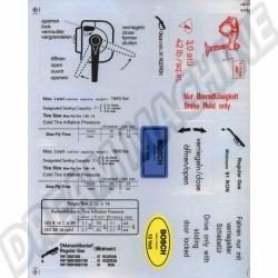 Kit de 14 autocollants Combi 68-->79 2119996879 211 999 6879 sur dream-machine.fr