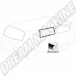 Joint de vitre latéral arrière avec emplacement moulure pour Combi de 68-->79