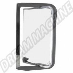 Déflecteur arriere complet gauche avec cadre de vitre  chromé en acier inoxydable Combi de 8.1967 -> 7.1979 7.1979 221847655  | Dream-Machine.fr