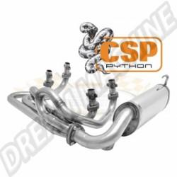 Echappement CSP Python 48mm inox Combi ->67 et moteur Type 4 ->78