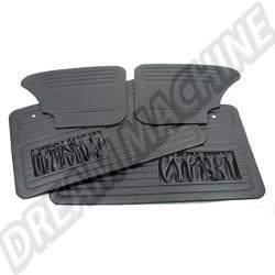 Kit 4 panneaux de porte noir avec vide poche cabriolet 67---->72
