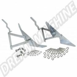 Charnières pour banquette lit Transporter T3 la paire 255070205D | Dream-Machine.fr