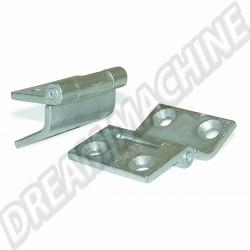 Charnière capot moteur ou porte de soute métallique comme d'origine 8/1967-7/1975