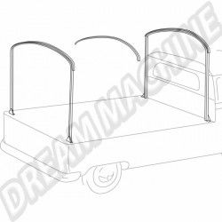 Arceaux pour pick-up simple ou double cabine en métal brut 261871061 | Dream-Machine.fr