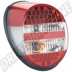 Feu ar G ou D complet à leds rouge / transparent 1303 + 1200 73-->>