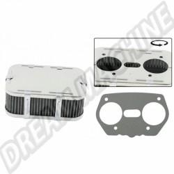 Filtre à air standard rectangulaire hauteur 66 mm pour carburateur Weber IDF
