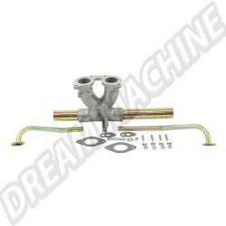 Pipe d'admission Alu pour Carburateur IDF / DRLA central sur moteur Type1