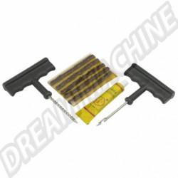 Kit réparation pneu tubeless les 9 pieces
